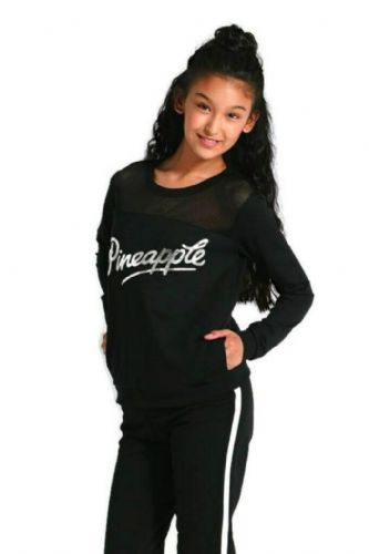 PINEAPPLE DANCEWEAR Girls Mesh Monster Sweater Long Sleeved Dance Jumper Black